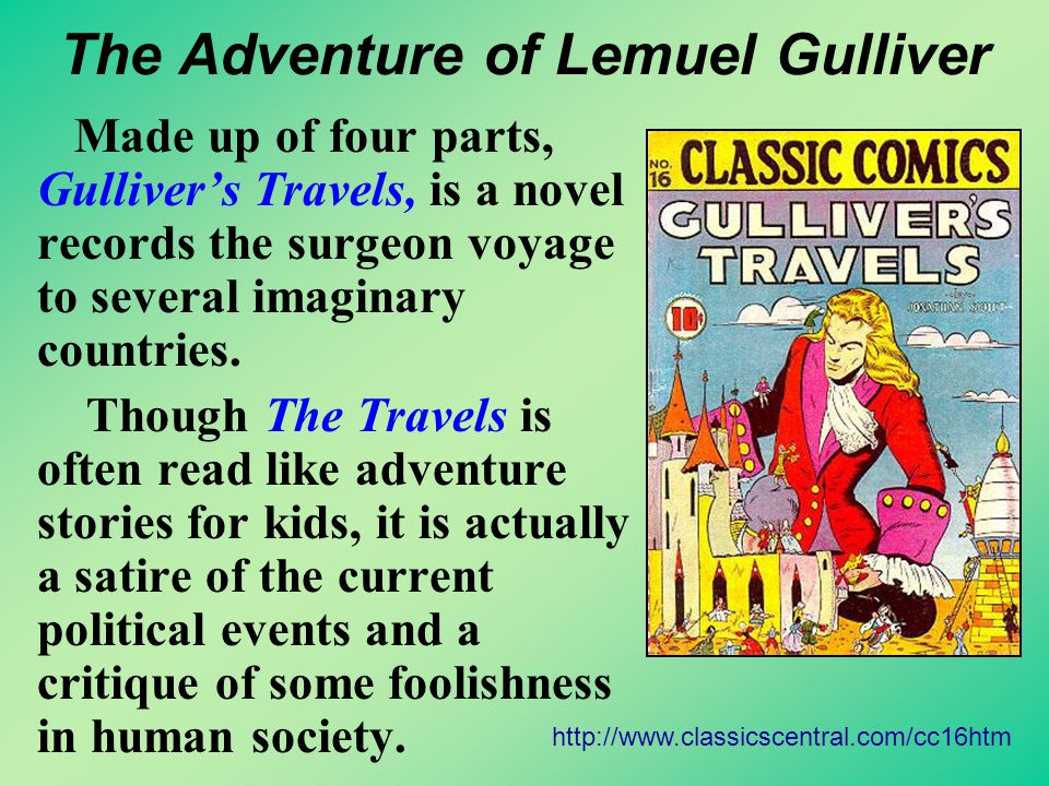 More about Gulliver's Travel Activity Two
