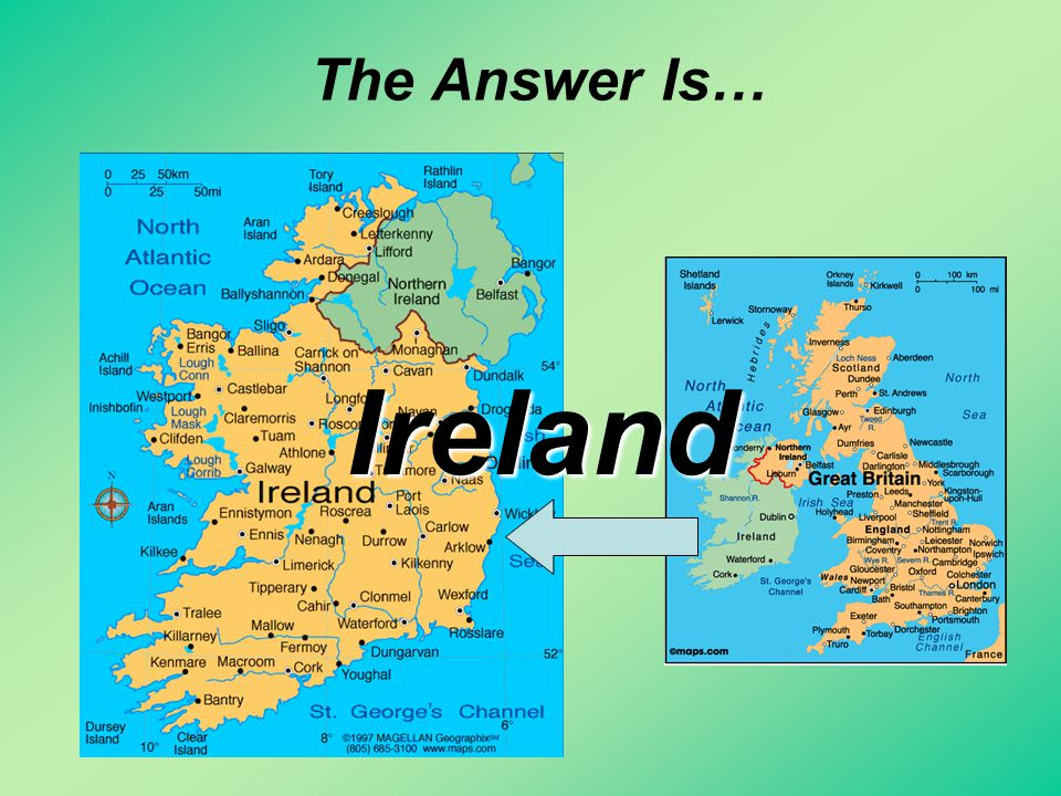 The Answer Is… Ireland