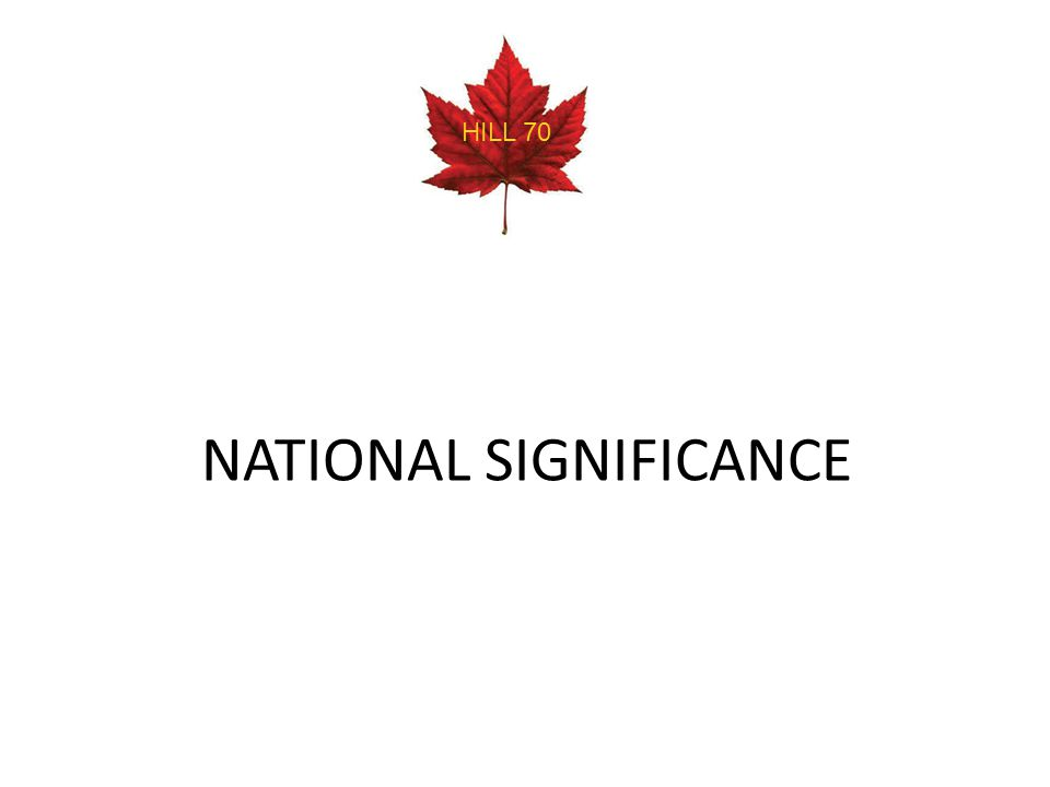 NATIONAL SIGNIFICANCE HILL 70