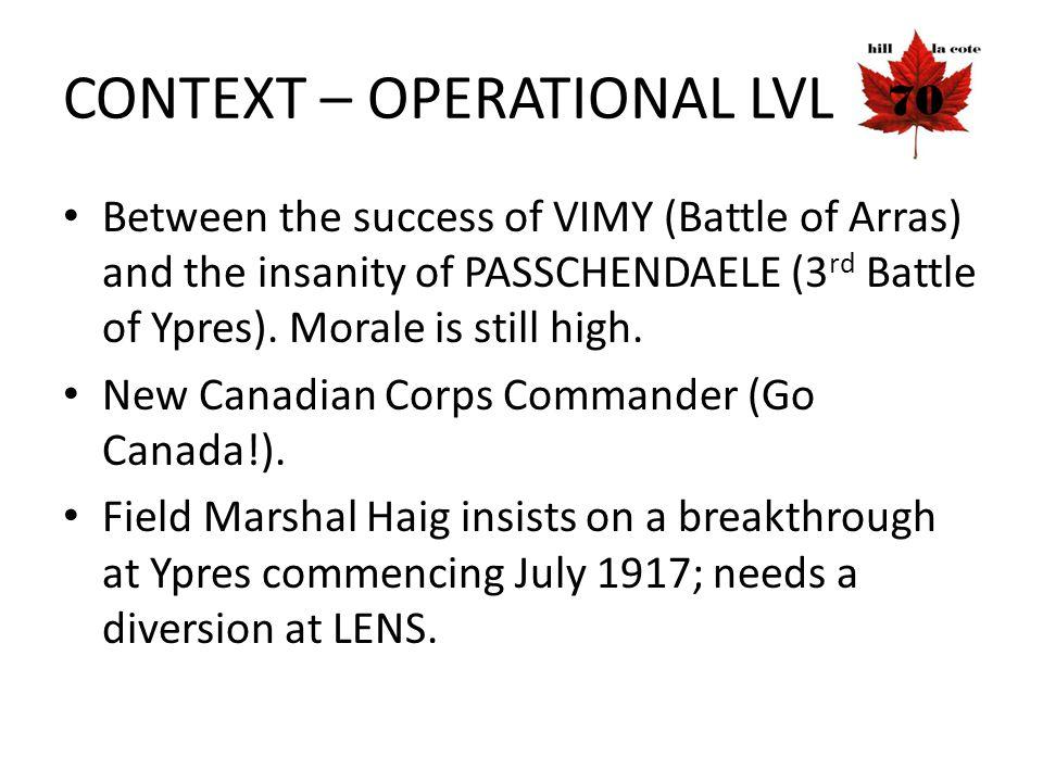 Hill 70 Victoria Crosses Pte Michael James O'Rourke (7 th Bn) Pte Harry Brown (10 th Bn) Sgt Frederick Hobson (20 th Bn) Maj Okill Massey Learmonth (2 nd Bn) CSM Robert Hill Hanna (29 th Bn) Cpl Filip Konowal (47 th Bn)