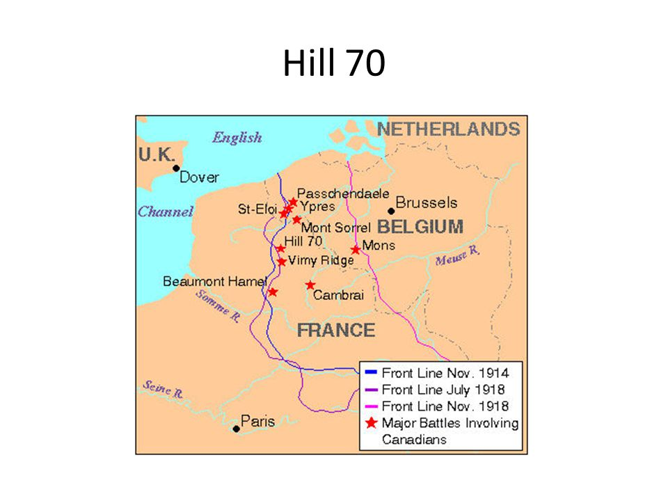 THE BATTLE - MISSION Termed a small operation of World War I between the Canadian Corps and five divisions of the German Sixth Army, the mission of First Canadian Corps: – To conduct a diversionary attack on LENS in order to FIX the German Sixth Army so that it cannot participate in the 3 rd Battle of YPRES