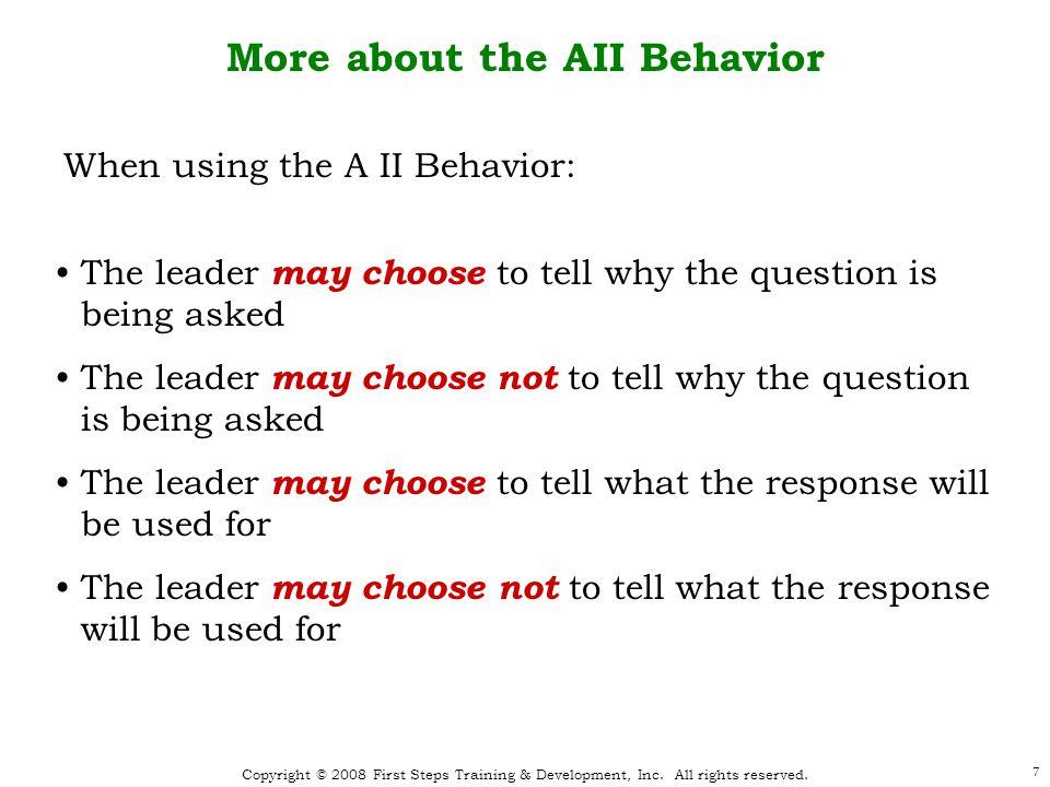 8 Effective Team Leadership Leadership Behaviors * As defined in Leadership and Decision Making, Victor H.