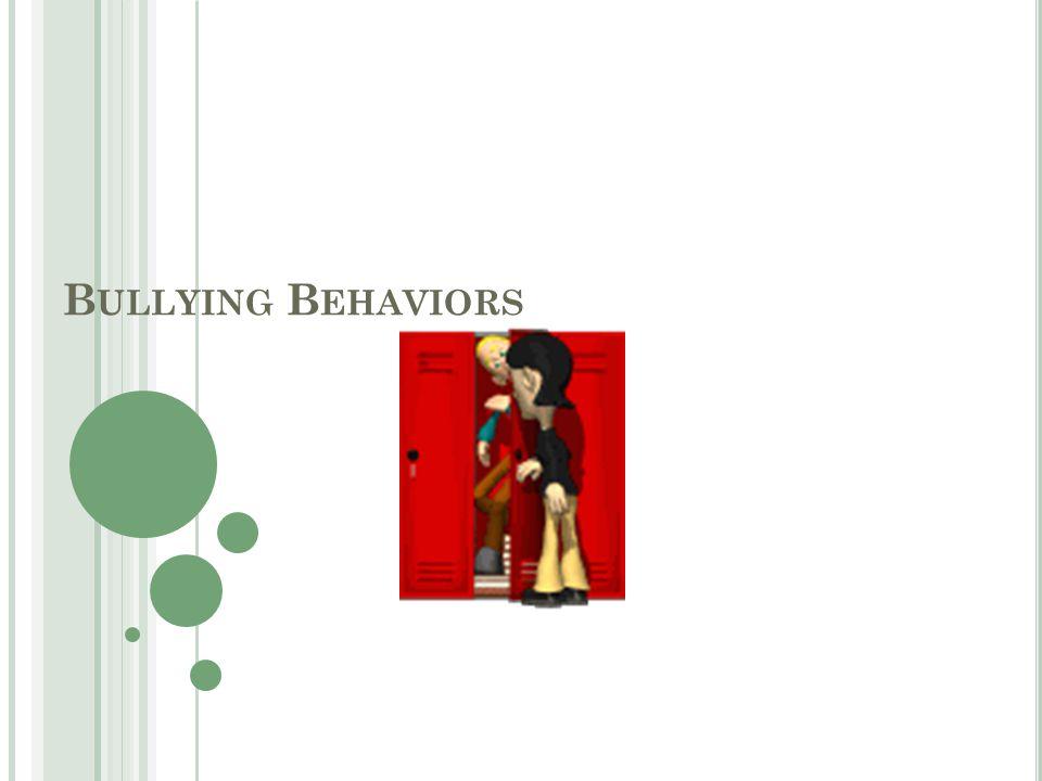 B ULLYING B EHAVIORS