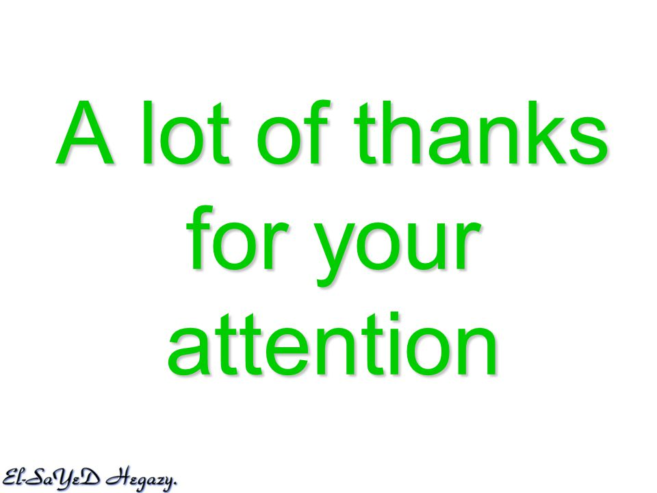 A lot of thanks for your attention
