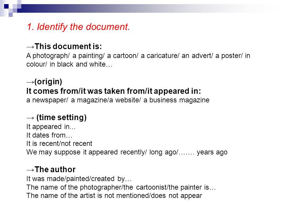 2.Describe the document.