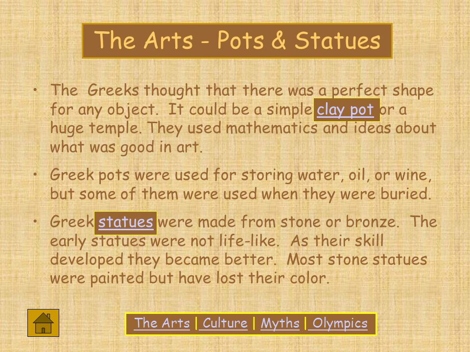 The Greeks thought that there was a perfect shape for any object.