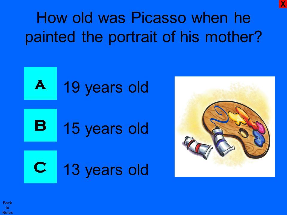 X Back to Rules How were Picasso's cubist paintings different from the work of other artists before him.