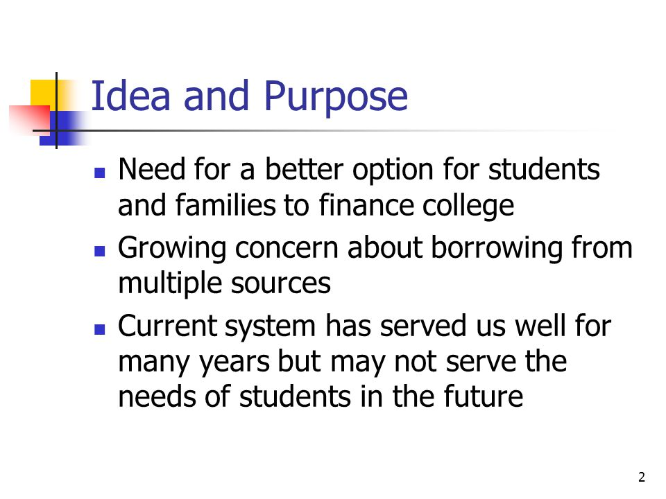 3 Idea and Purpose How did the NFEL come about.