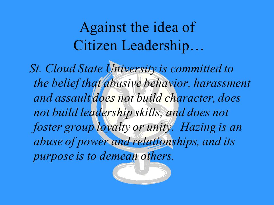 Against the idea of Citizen Leadership… St.