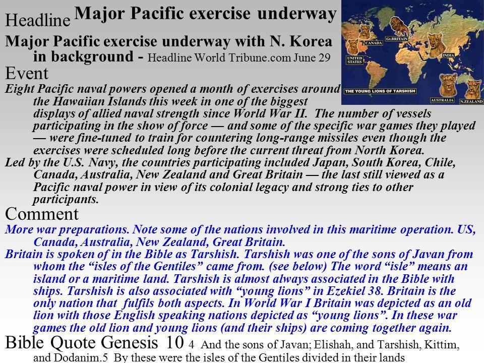 Major Pacific exercise underway Headline Major Pacific exercise underway with N. Korea in background - Headline World Tribune.com June 29 Event Eight