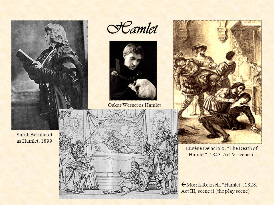 Hamlet – 1 Comes home from university, finds his father dead, his uncle enthroned, and his mother married to his uncle Claudius Inability to act: tragic flaw; philosopher rather than acting hero; Hamlet s melancholy Motivated by various reasons: his character is one of them Ghost might be bad spirit (comes from below) Uncertainty about guilt of his uncle Revenge contradicts Christian ethic Conflict between Christian and aristocratic values