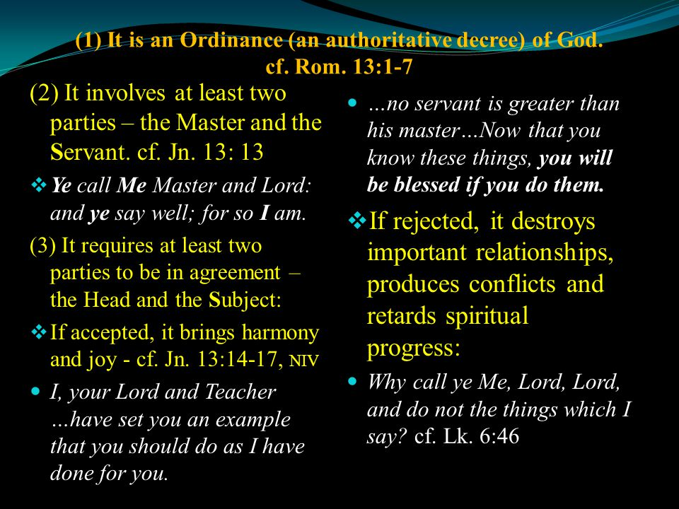 I.THE RIGHTS IN DIVINE HEADSHIP. I Cor. 11:3; 14:40 A.
