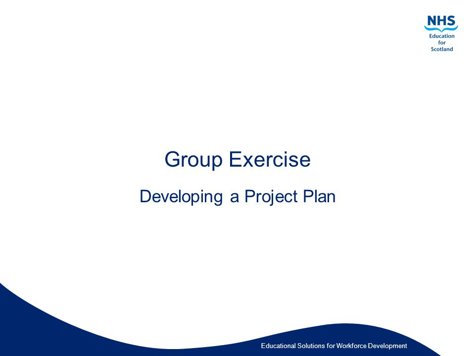 Educational Solutions for Workforce Development Group Exercise Developing a Project Plan