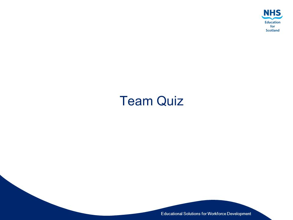 Educational Solutions for Workforce Development Team Quiz