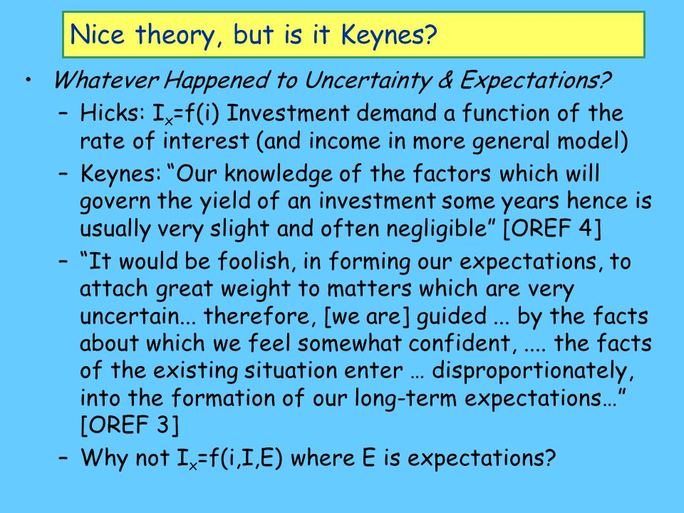 Nice theory, but is it Keynes.