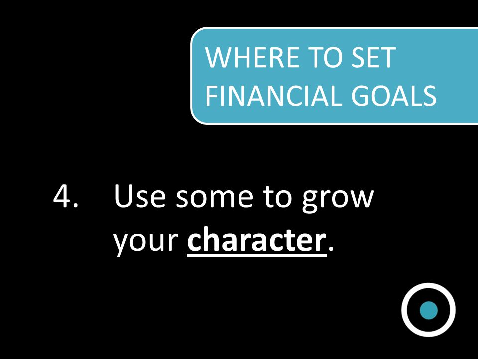 4.Use some to grow your character.