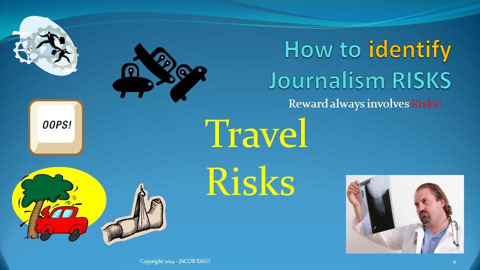 Reward always involves Risks! 10Copyright 2014 - JACOB EASO Timing Risks