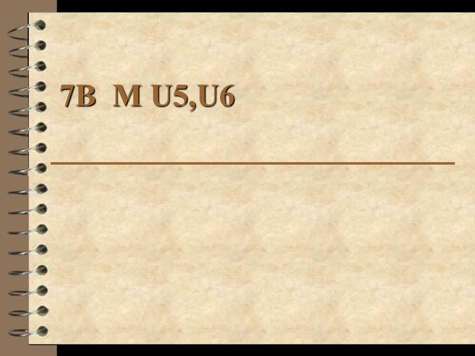 7B M U5,U6
