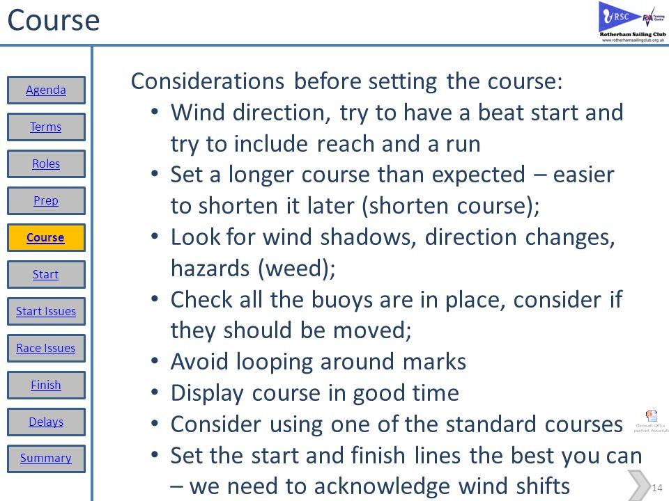 NOT OCS OCS Area 13 Start Terms Roles Prep Course Start Start Issues Race Issues Finish Delays Summary Agenda For Z and Black Flag A boat is deemed in breach of the rule when: In the last minute before the start (-1 to 0 minutes); Is in a triangle formed by the marks at the end of the start line and the first mark Windward Mark Mark #1 Start Line Wind