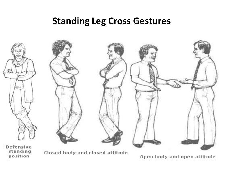 Standing Leg Cross Gestures