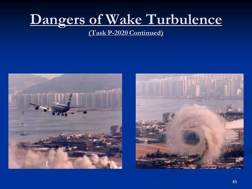 Dangers of Wake Turbulence (Task P-2020 Continued) 45