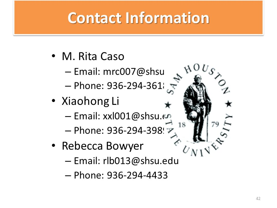 Contact Information M.