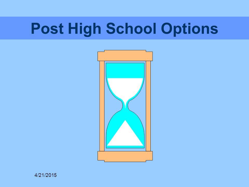Post High School Options 4/21/2015