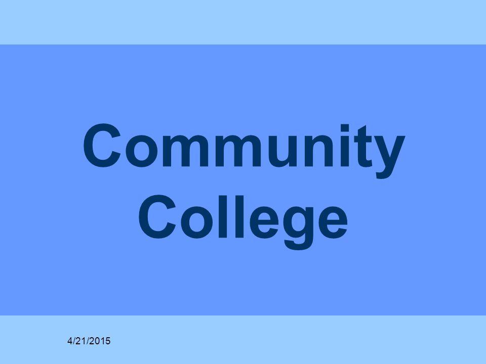 Community College 4/21/2015