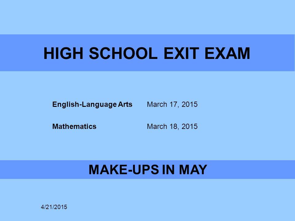 College Entrance Tests 4/21/2015