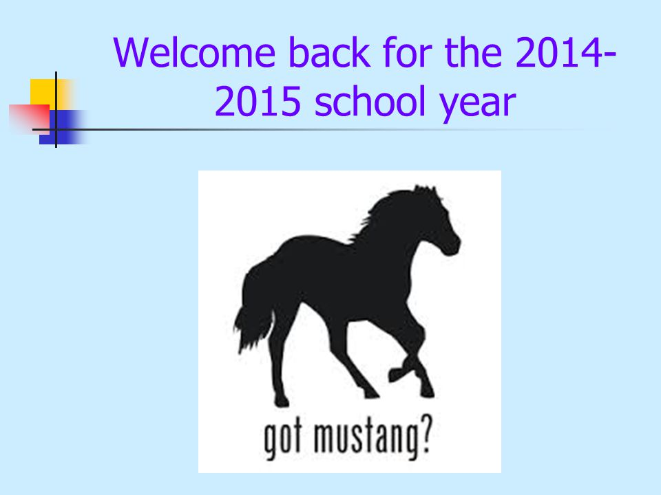 Welcome back for the 2014- 2015 school year