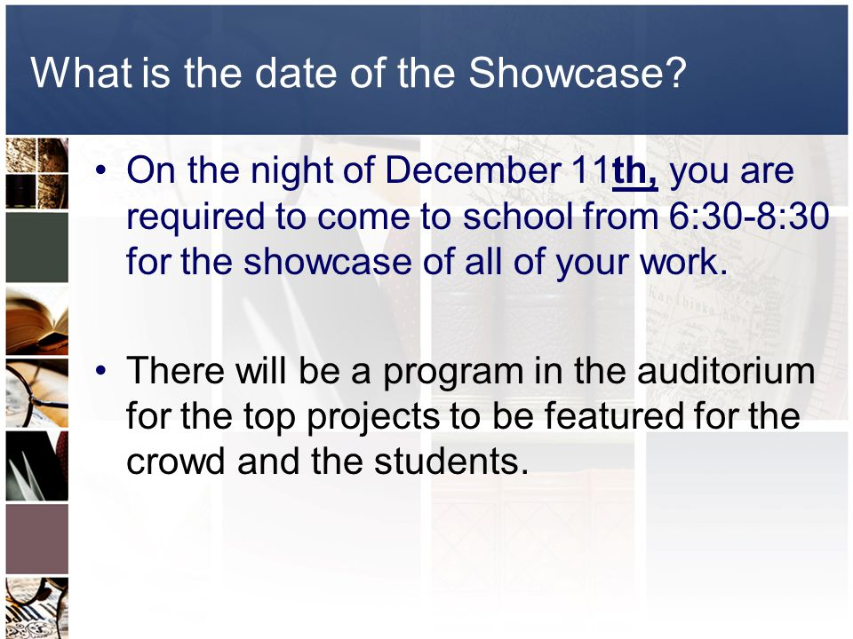 What is the date of the Showcase.
