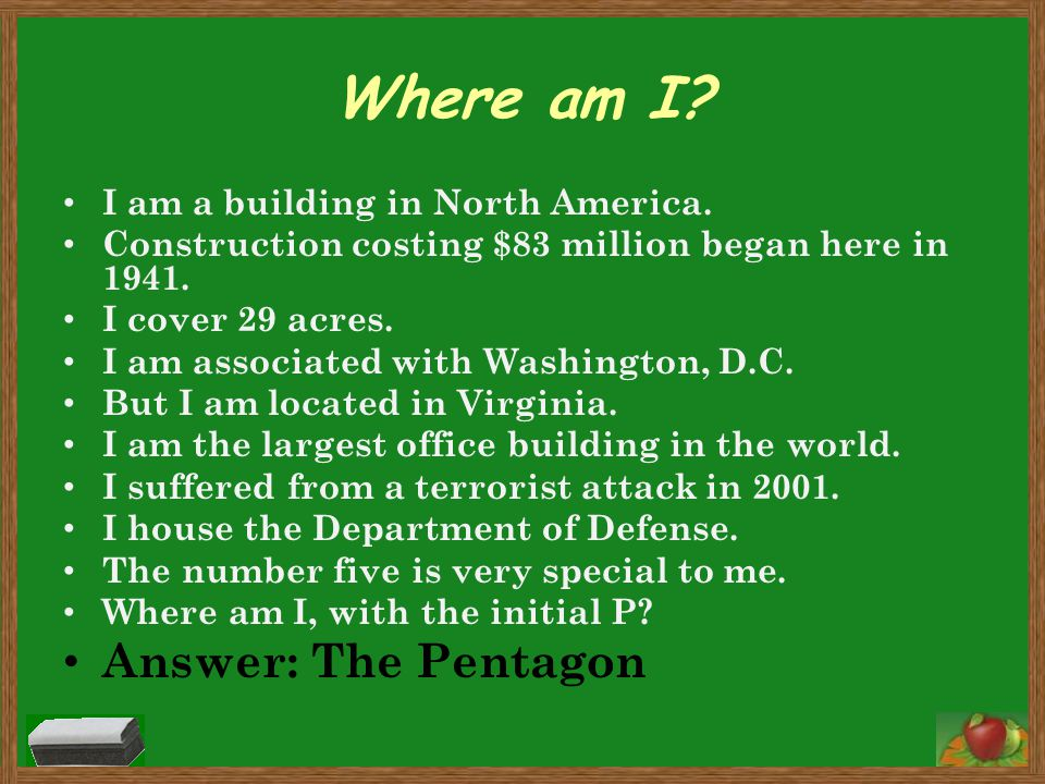 Where am I? I am a building in North America. Construction costing $83 million began here in 1941. I cover 29 acres. I am associated with Washington,