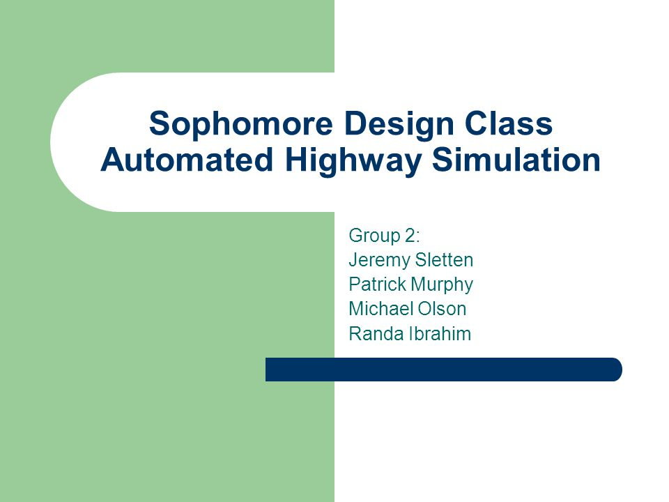 Purpose The purpose of this course was to create a line-following car that simulates the operation of an automated highway system.