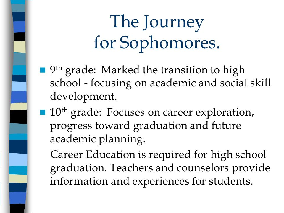 The Journey for Sophomores.
