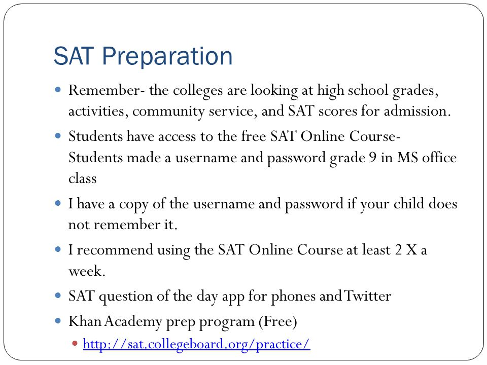 PSAT Wednesday October 15, 2014 @ NHS 8:20 am – 11:30 am No make up dates NEW THIS YEAR- all sophomores take the test- no fee Great SAT practice Can take it grades 9,10,11 Free tailored online practice after scores are released SAT is changing Spring 2016 and Next year PSAT will reflect changes