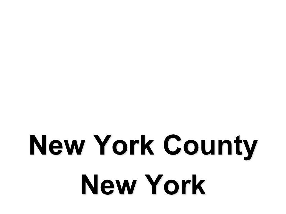 New York County New York