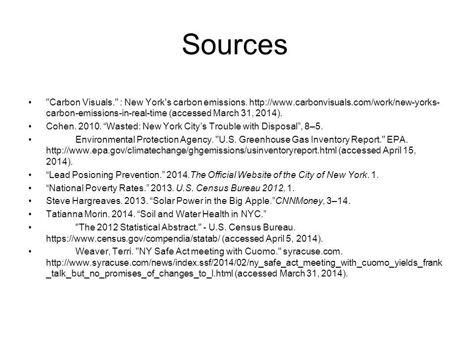 Sources Carbon Visuals. : New York s carbon emissions.