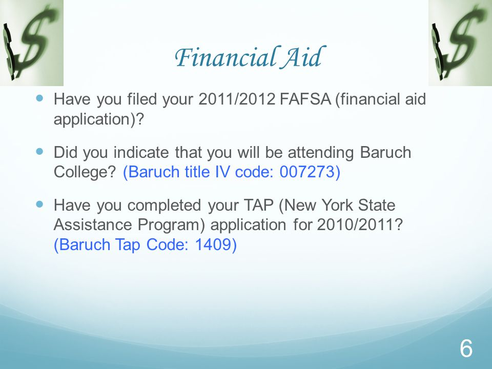 Financial Aid Do you know Samuel Murray.