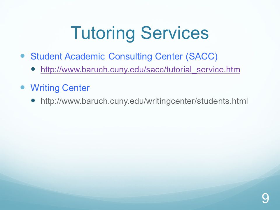 SEEK Tutoring Go to person: Jill Rosenberg, Tutorial Coordinator Located in 2-234 in the SEEK office 8