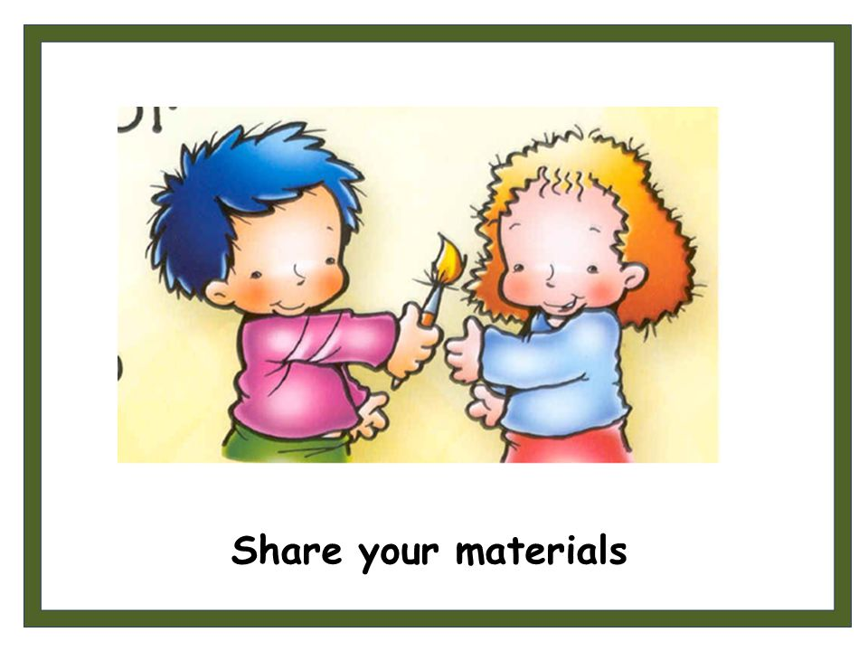 Share your materials