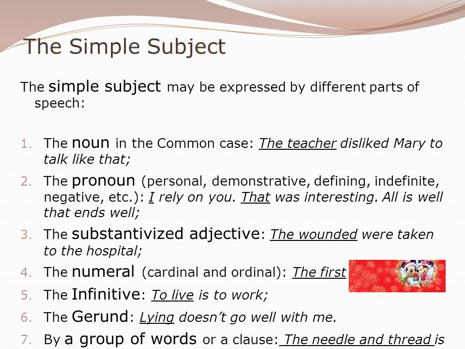 Prepositionless vs Prepositional Prepositionless objects are subdivided into 1.