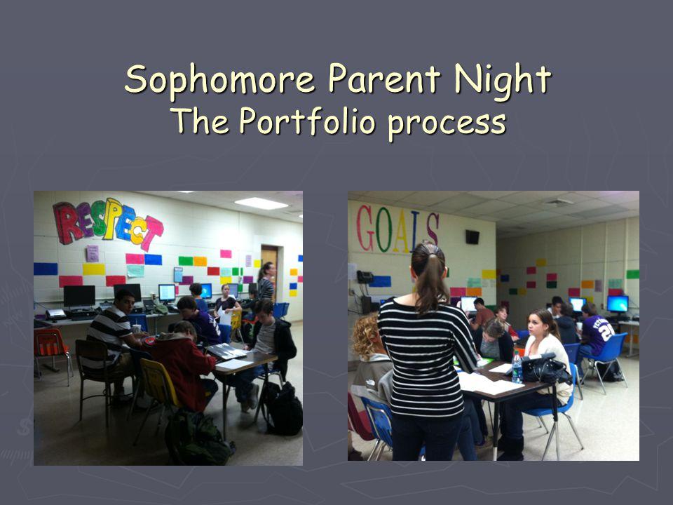 Sophomore Parent Night The Portfolio process