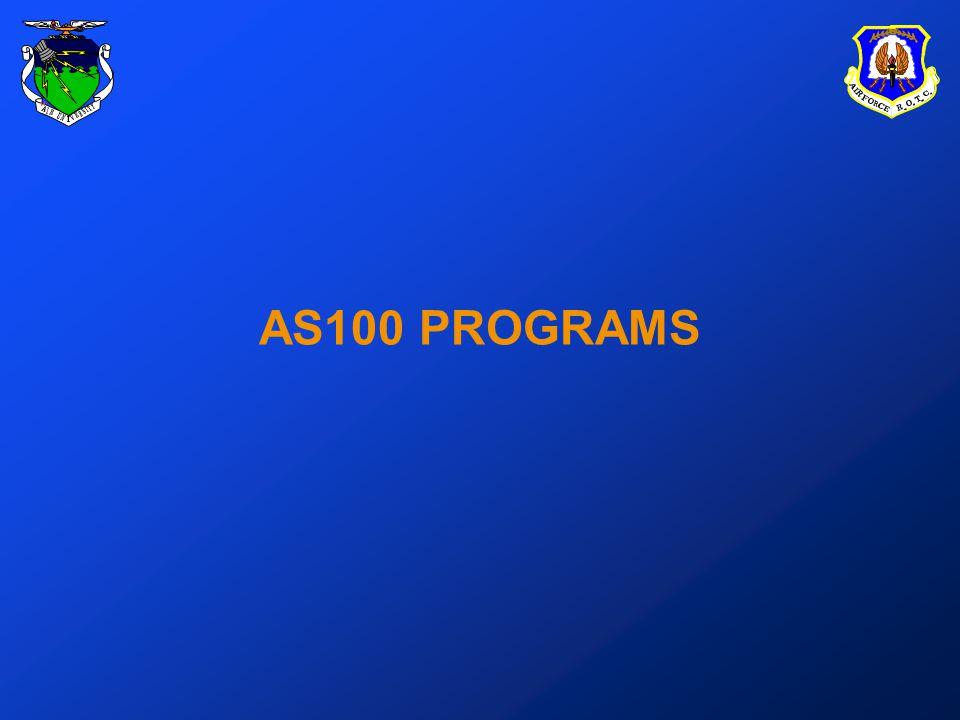 AS100 PROGRAMS