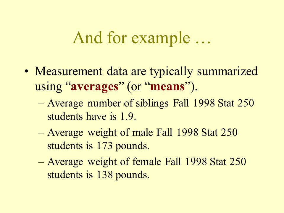 For example...Categorical data are commonly summarized using percentages (or proportions ).