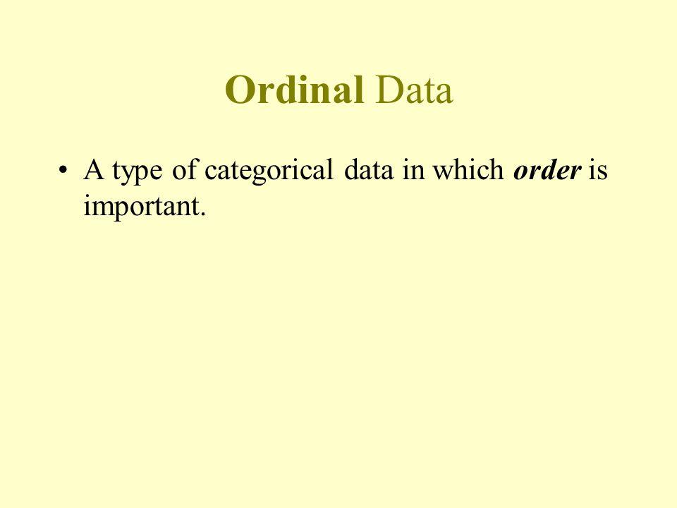 Examples: Nominal Data Hair color –blonde, brown, red, black, etc.