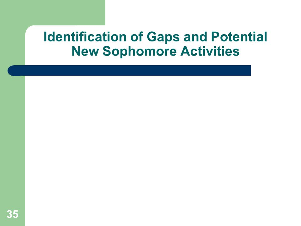 35 Identification of Gaps and Potential New Sophomore Activities