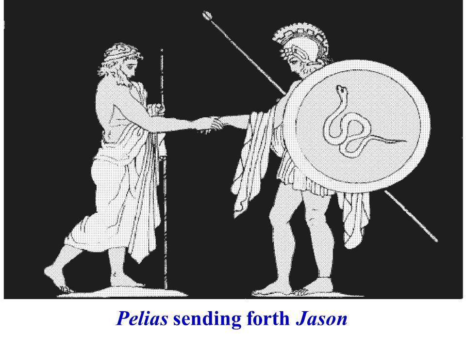 Pelias sending forth Jason