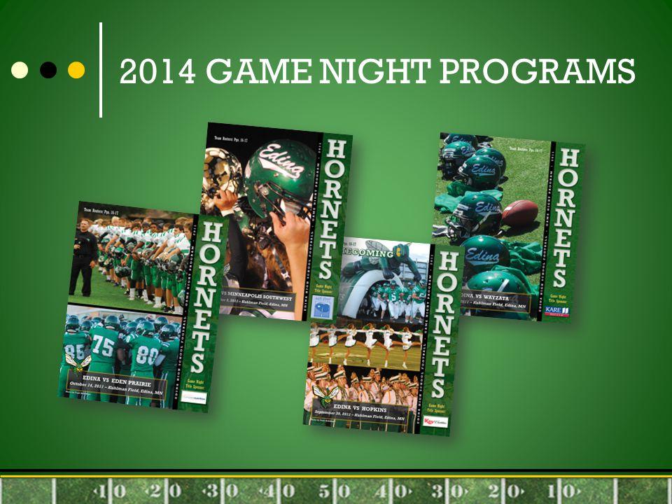 2014 GAME NIGHT PROGRAMS
