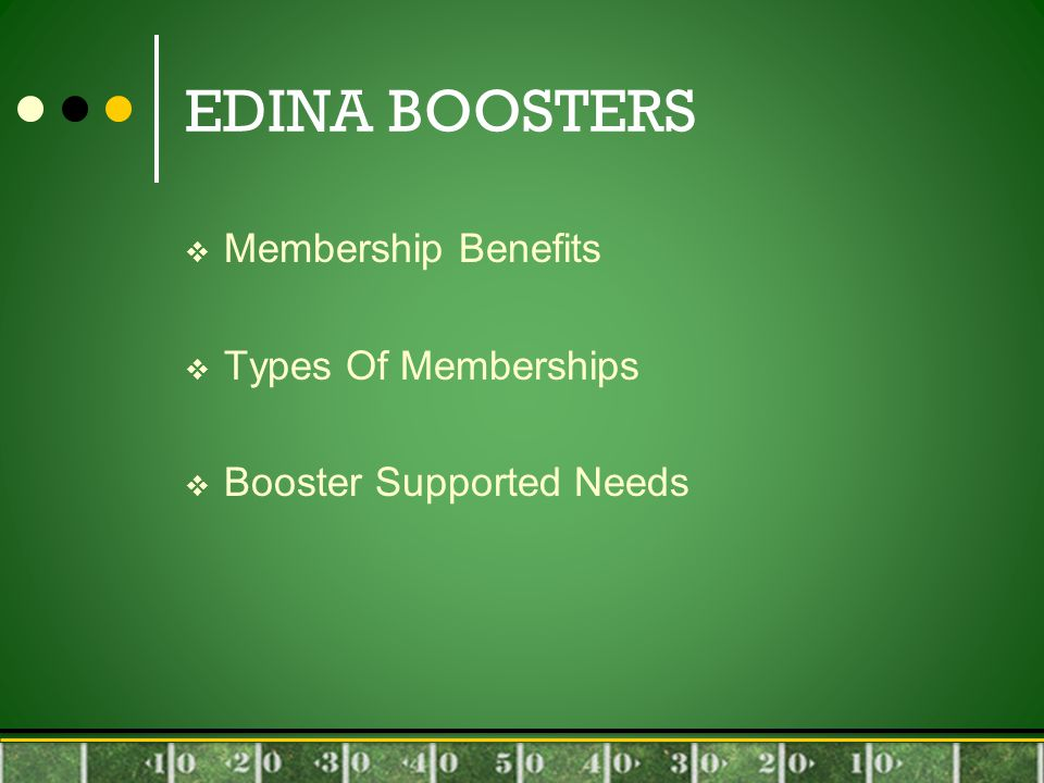 EDINA BOOSTERS  Membership Benefits  Types Of Memberships  Booster Supported Needs