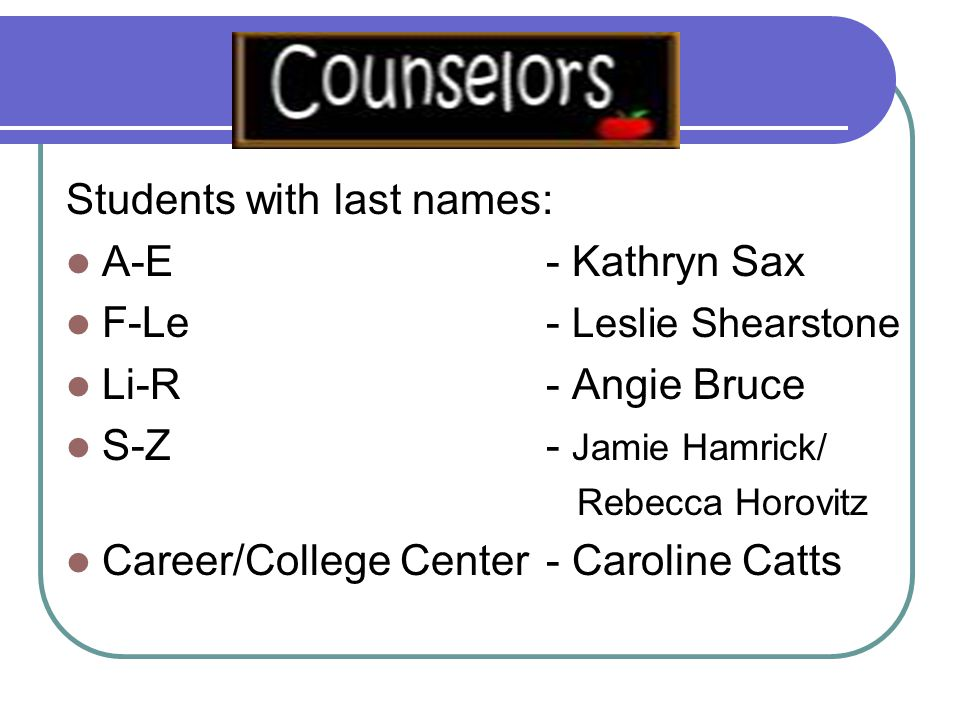 When you need information We have many great resources on our School Counseling Website Explore your options after high school Career interest inventories and information College admission predictors Tons more.